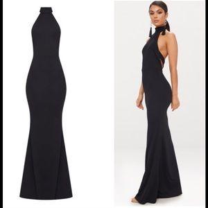 7ecf1816d Pretty Little Thing Dresses - 💋Black Cross Back High Neck Maxi Dress